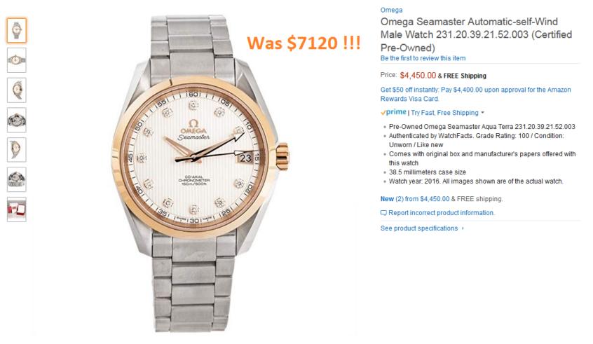 Omega Seamaster Automatic-self-Wind Male Watch 231 20 39 21