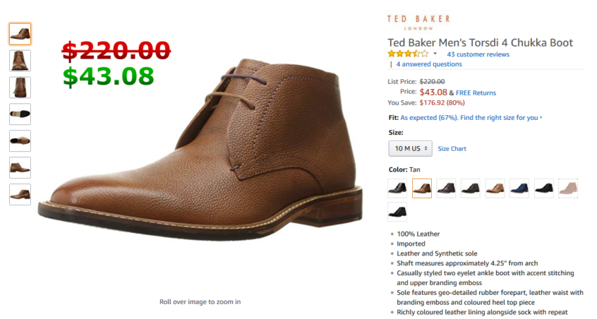 discount sale elegant and sturdy package reliable reputation Ted Baker Men's Torsdi 4 Chukka Boot, Tan | A Better Amazon ...