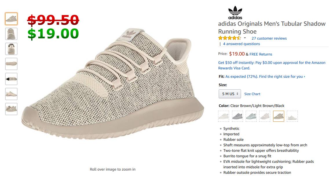 Adidas Originals Men S Tubular Shadow Sneaker Clear Light